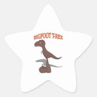 Bigfoot T-Rex Drawing Star Sticker