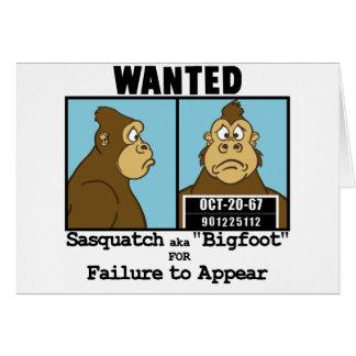 Bigfoot Tarjeta