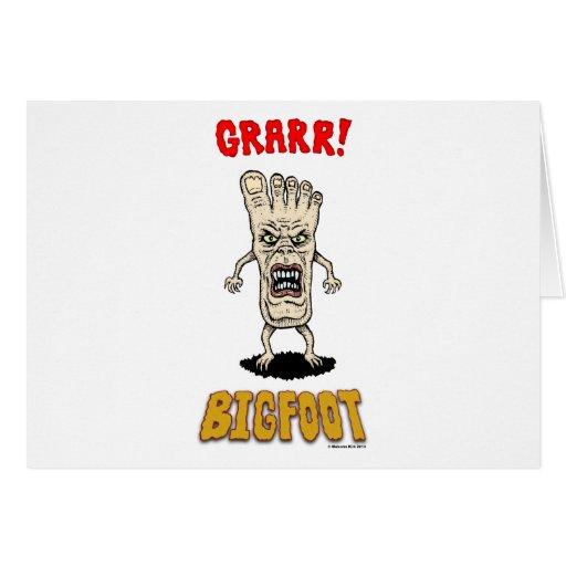 Bigfoot Tarjeta De Felicitación