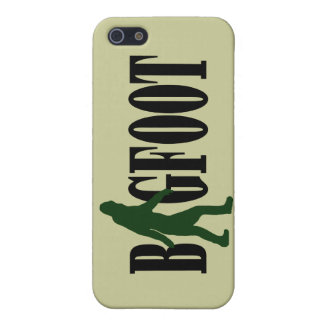 Bigfoot text and green squatch graphic case for iPhone SE/5/5s