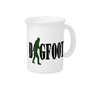 Bigfoot text & green squatch graphic beverage pitcher
