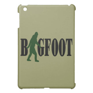 Bigfoot text & green squatch graphic iPad mini covers