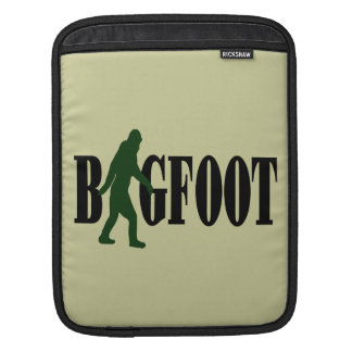 Bigfoot text & green squatch graphic iPad sleeve