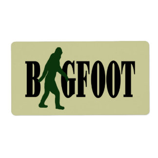 Bigfoot text & green squatch graphic label