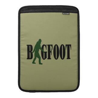 Bigfoot text & green squatch graphic MacBook sleeve