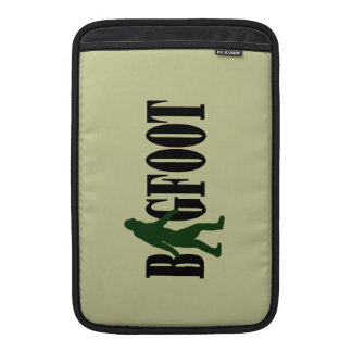 Bigfoot text & green squatch graphic MacBook sleeve