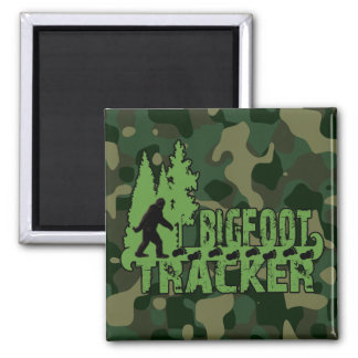 Bigfoot Tracker 2 Inch Square Magnet