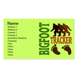 Bigfoot Tracker Double-Sided Standard Business Cards (Pack Of 100)