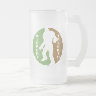 Bigfoot Tracker Frosted Glass Beer Mug