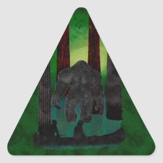 bigfoot triangle sticker