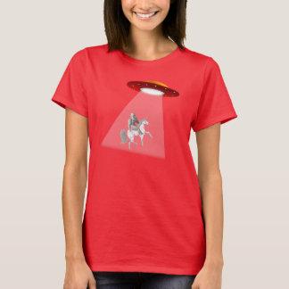 Bigfoot Unicorn UFO Abduction T-shirt