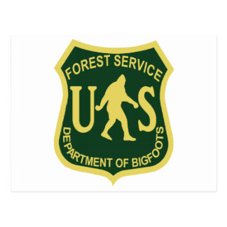Bigfoot US Forest Service Post Card