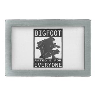 """Bigfoot valoró """"E"""" para cada uno Hebilla De Cinturon Rectangular"""