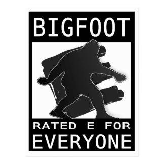 "Bigfoot valoró ""E"" para cada uno Tarjeta Postal"