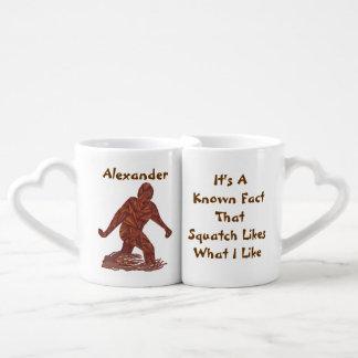 Bigfoot Walking Sasquatch Facts Uniquely Funny Coffee Mug Set
