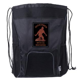 Bigfoot Walking Sasquatch Geektastic Guy Stuff Drawstring Backpack