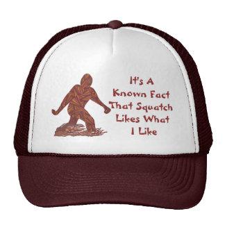 Bigfoot Walking Sasquatch Geeky Squatch Facts Trucker Hat