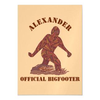 Bigfoot Walking Sasquatch Personalized Tan Brown Magnetic Card