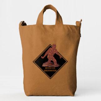 Bigfoot Walking Sasquatch Personalized Unique Duck Bag