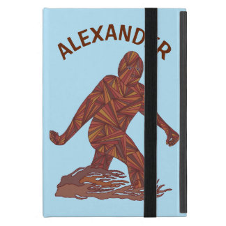 Bigfoot Walking Sasquatch Skunk Ape Hairy Man Cover For iPad Mini