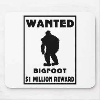 Bigfoot Wanted Poster Mouse Pad