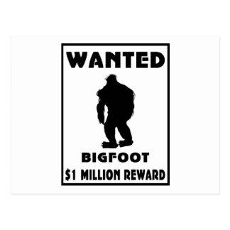 Bigfoot Wanted Poster Postcard