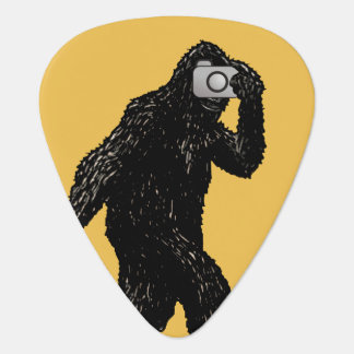 Bigfoot With Camera - Funny Photography Guitar Pick