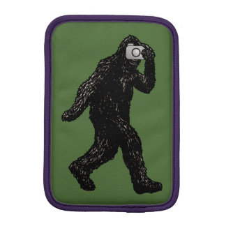 Bigfoot with Camera - Funny Photography Selfie iPad Mini Sleeve