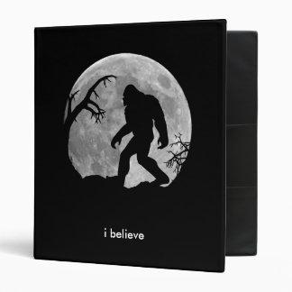Bigfoot with full moon 3 ring binder