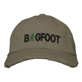 Bigfoot with logo embroidered baseball caps