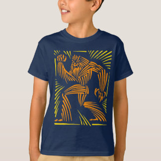 Bigfoot Woodcut Graphic - Kid Tee