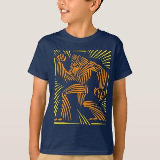 Bigfoot Woodcut Graphic - Kid Tee