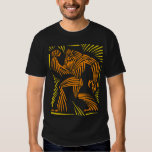 Bigfoot Woodcut Graphic T Shirt