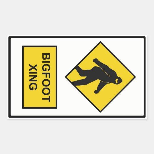 Bigfoot Xing Sticker (White)
