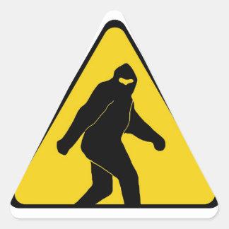 Bigfoot Zone Triangle Sticker