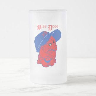 """"""" Bigg Dogg """" Frosted Glass Beer Mug"""