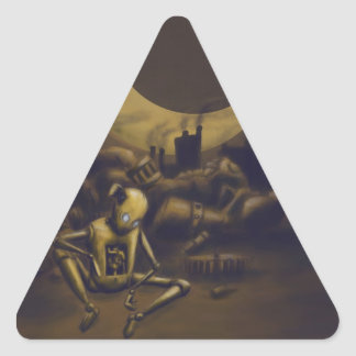 Bigger! Better! Industrialize! Triangle Sticker