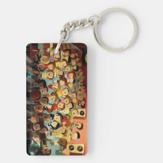 Bigger Boss Reggae Party Double-Sided Rectangular Acrylic Keychain
