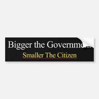 Bigger Government Smaller Citizen Car Bumper Sticker
