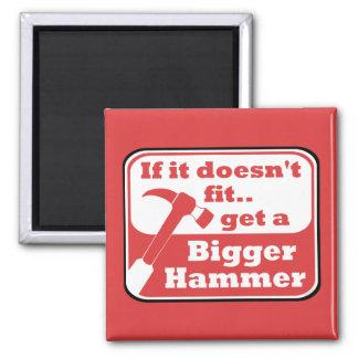 Bigger Hammer 2 Inch Square Magnet