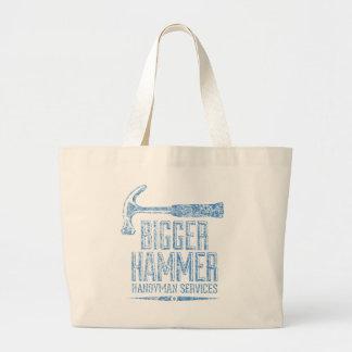 Bigger Hammer Handyman Services Canvas Bags