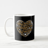 Bigger on the Inside Heart Coffee Mug (Black)