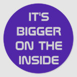 Bigger on the Inside! Stickers