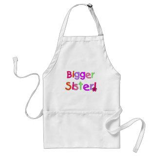 Bigger Sister Tshirts and Gifts Adult Apron