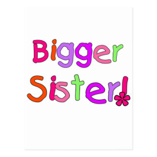 Bigger Sister Tshirts and Gifts Postcard