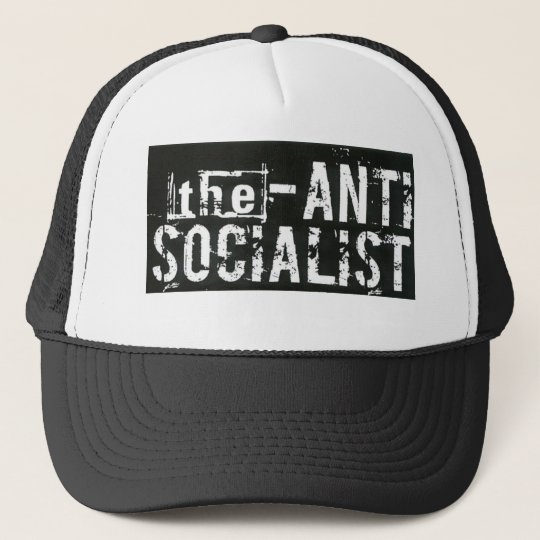 biggerantisocialist trucker hat