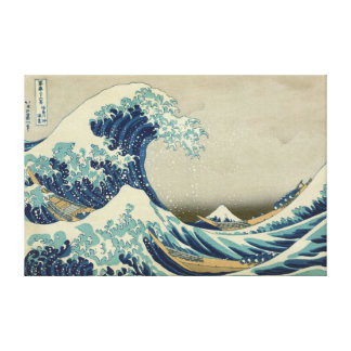 """Biggest & Best Quality """"The Great Wave"""" by Hokusai Canvas Print"""