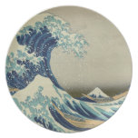 "Biggest & Best Quality ""The Great Wave"" by Hokusai Party Plates"
