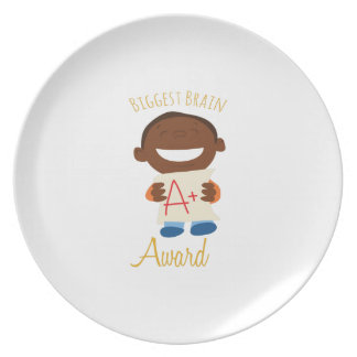 Biggest Brain Award Party Plate
