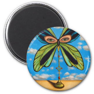 Biggest  Butterfly 2 Inch Round Magnet